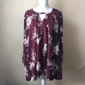 Jodifl Floral Oversized Tunic with Pockets M